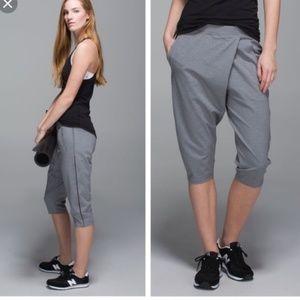 lululemon athletica Pants - Lululemon yogini crop grey pants